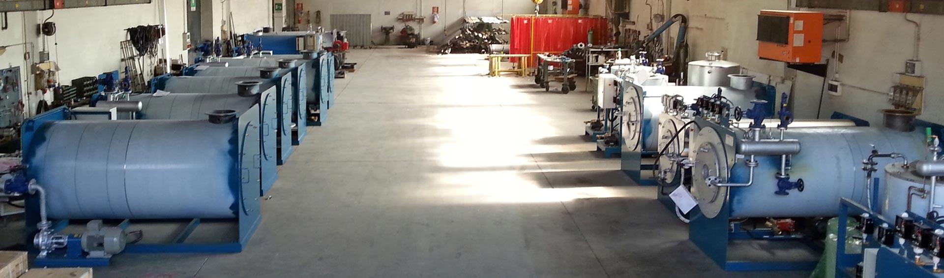 Caldaie a vapore in produzione