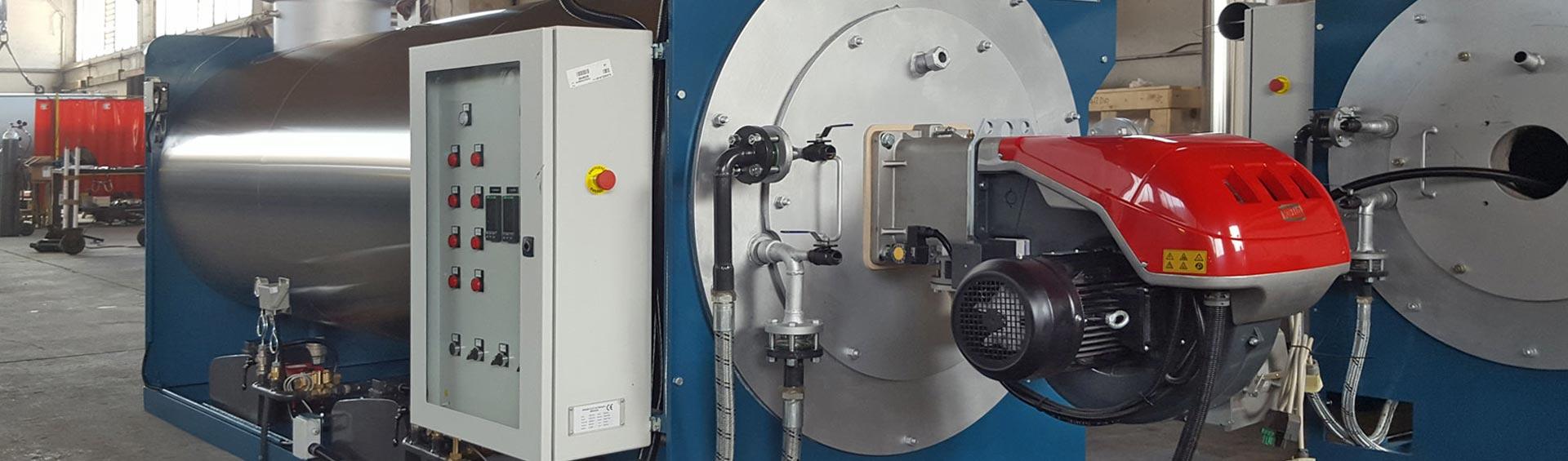 Generatore di vapore ad asse orizzontale