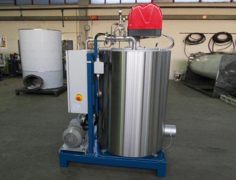 Caldaia ad olio diatermico ad asse verticale OMDV