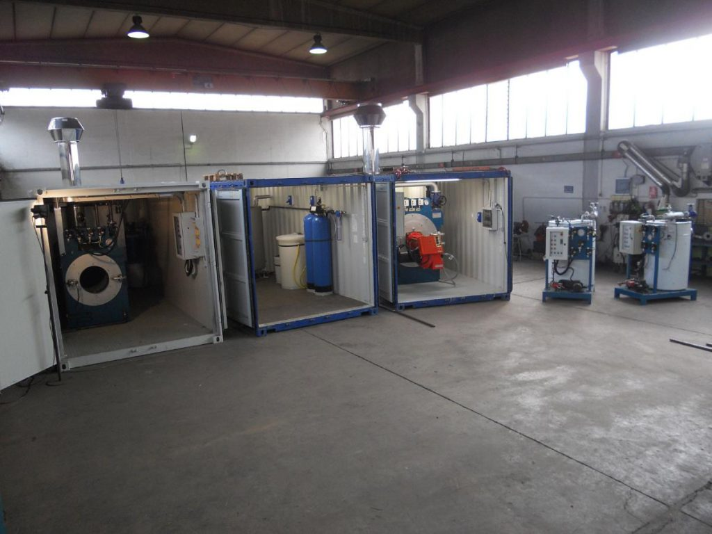 Centrali termiche di vapore in container