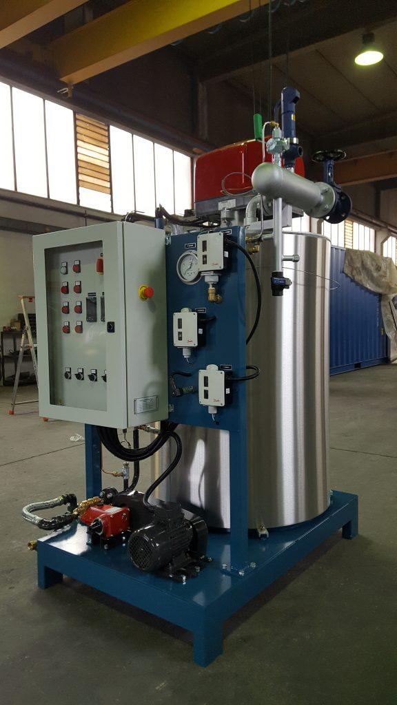 Generatore di vapore ad asse verticale