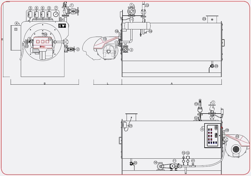 Disegno tecnico generatore OMG