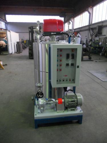 Caldaia a olio diatermico OMDV con pannello di controllo e pompa di circolazione