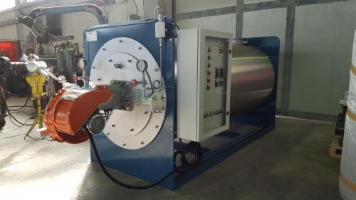 Vista quadro di controllo caldaia a olio diatermico OMD