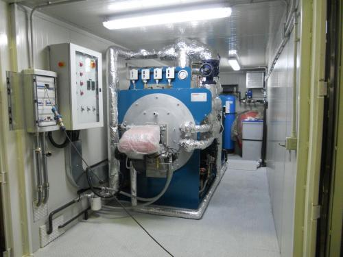 Interno della centrale termica di vapore