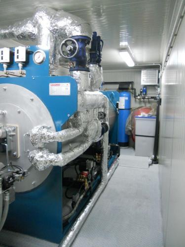 Interno della centrale con trattamento acqua