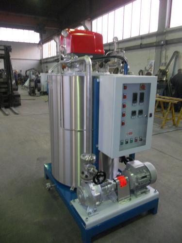 Caldaia a olio diatermico modello OMDV
