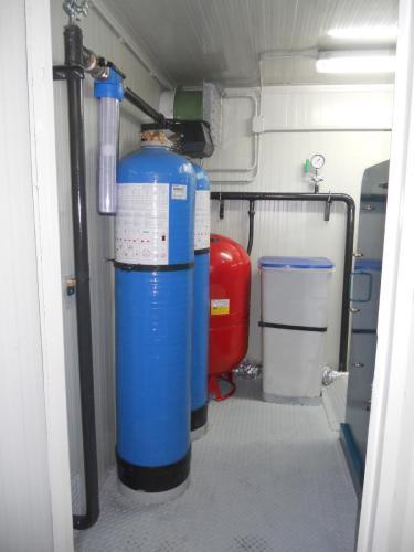Dettaglio dell'impianto per trattamento acqua