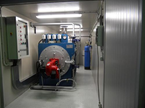 Centrale termica di vapore con bruciatore