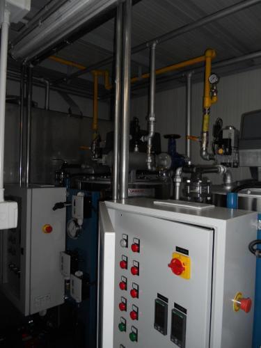 Vista del quadro della centrale termica di vapore